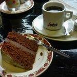 Home made chocolate cake & Americano @ La Barrica