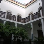 One of the courtyards in the hostel