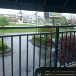 "Balcony view ""Damon's"" restaurant side"