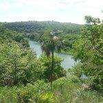 een mooi zicht op de Chavon rivier