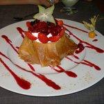 Le croustillant au fruits rouges : un délice