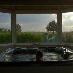 Le vetrate della zona relax