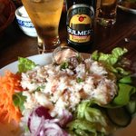 The open crab sandwich
