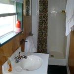 shower half of bathroom