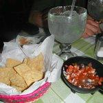 Thee best margaritas & Mexican salsa we had all week! La Fonda @ Villas El Rancho