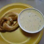 pretzel and soup