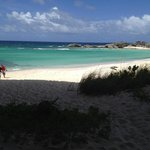 Deserted beach on Middle Caicos coming back from caves