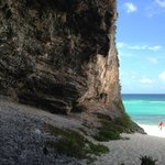 At the top of this cliff is the newly built bar on Middle Caicos