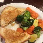 ultimate comfort grilled cheese with veggies