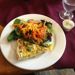 Quiche and the most delicious salad.