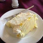 Lemon angel food cake - divine!