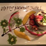 Birthday Cake with fresh Tropical Fruit - Delicious