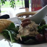 chicken salad and soup