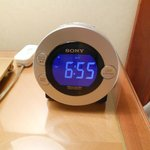 Clock radio that is iPod/iPhone compatible.
