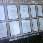 extensive menu inc wine list