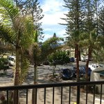 Paid for 1 bedroom ocean view room - put on 1st floor - view from room - 95% trees/5% ocean view