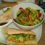 lunch special (salad and yummy chicken sandwich)