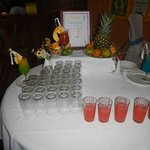 """Drinks they serve you upon entering """"buffet"""""""