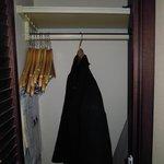 Small closet.