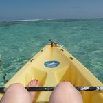 Quick kayak ride to world class snorkeling