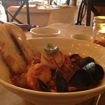Seafood Stew with Mussels, Scallops, Shrimps and Fish