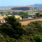 View of the Del Mar Fairgrounds and race track.