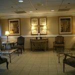 clean cozy lobby