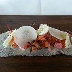 Entree kingfish sashimi salad