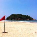 The beach outside Eden Resort