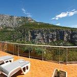Terrasse d'une chambre côté Canyon