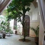 reception area of riad massiba