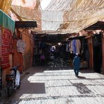 La rue avoisinante du Riad