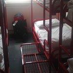 "Dorm room (metal cage ""lockers"")"