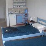 Neat little kitchen area.