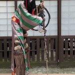 Japanese demon street performer