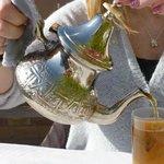 Mint tea with breakfast