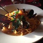 sea food pasta was amazing.