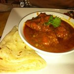 Chicken curry with Rotti
