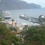 Funchal harbour beyond.