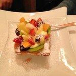 cestino di sfoglia con frutta e crema pasticcera