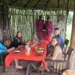 Ontbijten in kleine bar