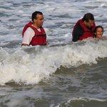 Kids in the beach