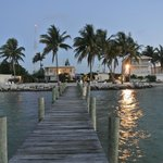 The view of the Yellowtail Inn from the end of the pier.