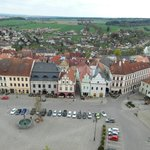 Old Town Square seen from Dean Church Tower - Hotel Nautilus second from right