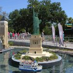 Statue of Liberty made out of legos