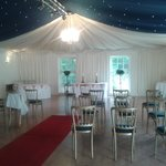 Function room laid out for ceremony