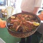 Paella at the Restaurante Brisas