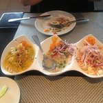 the trio of ceviche