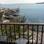 Annie's Suite patio (second floor) overlooking private beach