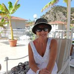 having a lovely relax on sun terrace